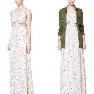 Zara Japanese floral cutout dress, never worn!